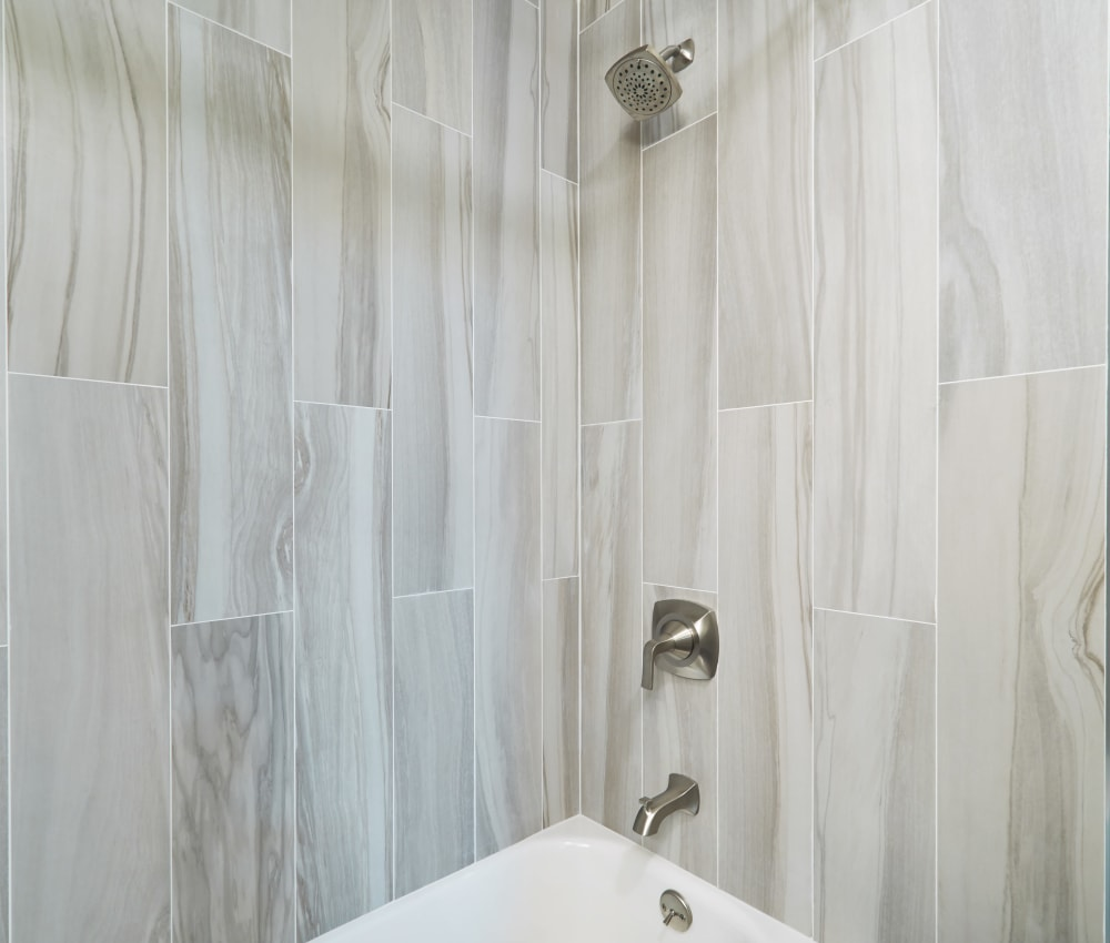 Luxury shower and bath at Ladera in Lafayette, California