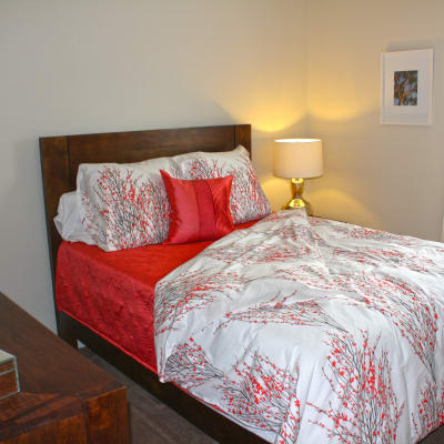Beautiful bedroom at Harbor Point Estates in Essex, MD