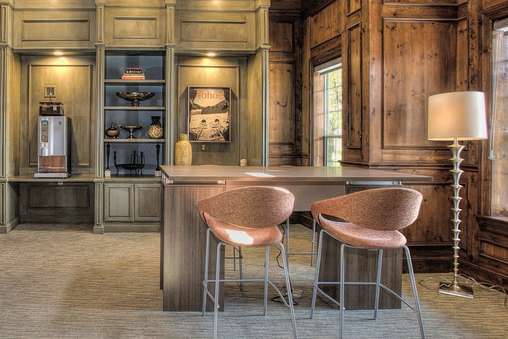 Resident espresso lounge at The Vintage at South Meadows Condominium Rentals in Reno, Nevada