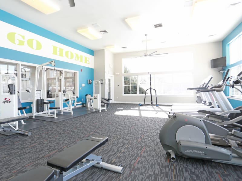 Fitness Center at Elevate at Red Rocks in Lakewood, Colorado