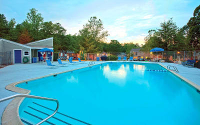 Swimming pool at Woods of Williamsburg Apartments