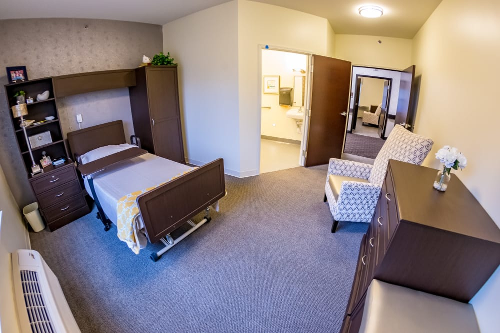 Bedroom at Senior Living Facility in Lexington, Kentucky