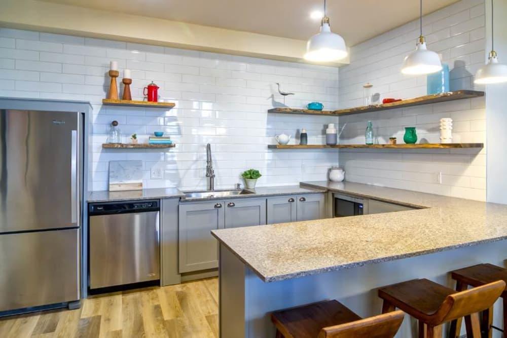 Modern kitchen at Sofi at Somerset in Bellevue, WA