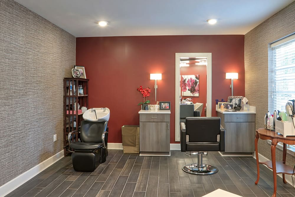 Hair salon at Village Heights Senior Apartments in Fairport, New York