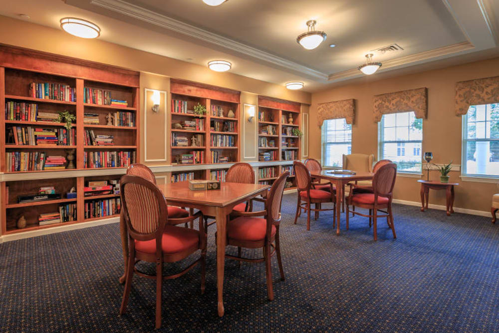 Library at All American Assisted Living at Washington Township