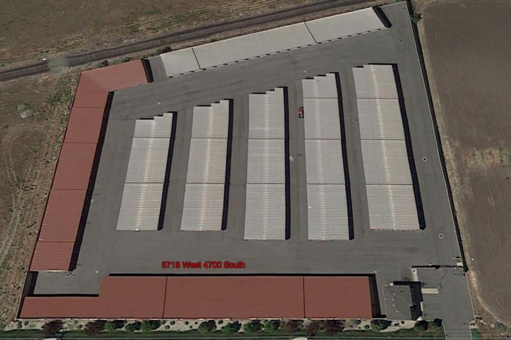 Aerial view of Stor'em Self Storage in West Valley City, Utah