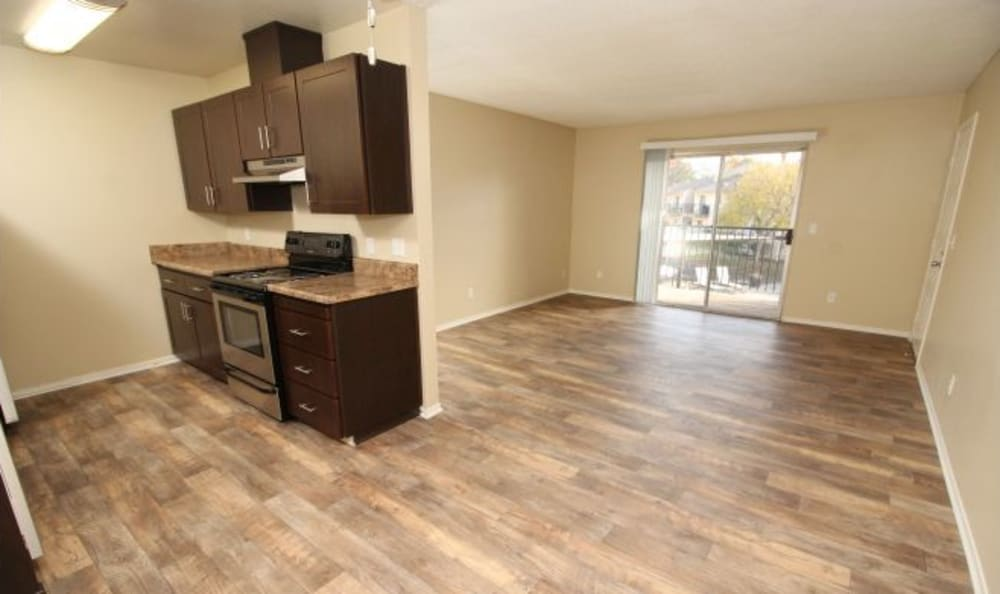 The Woodlands Apartments Kitchen & Living room, renovated