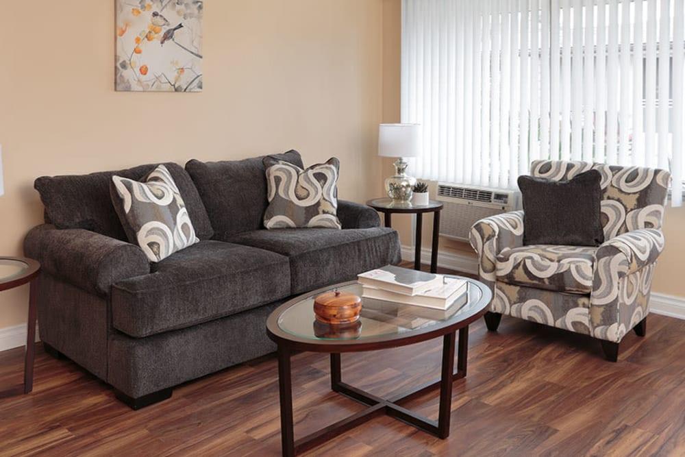 Resident living room at Monte Vista Village in Lemon Grove, California