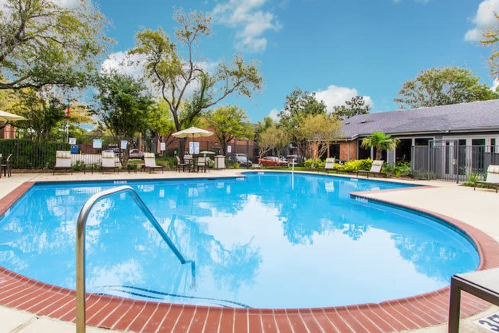 Swimming pool on a sunny day at Carmel Creek in Houston, Texas