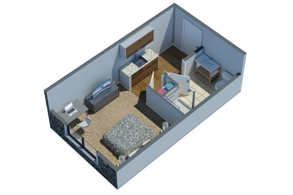 Assisted Living Floor Plan at Mirror Lake Village Senior Living Community