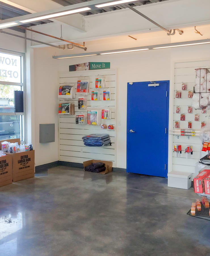 Boxes and moving supplies available at StorQuest Self Storage in North Miami Beach, Florida