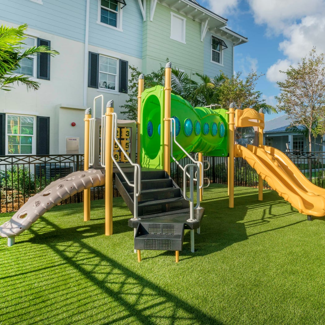 Playground area available at Delray Station in Delray Beach, Florida