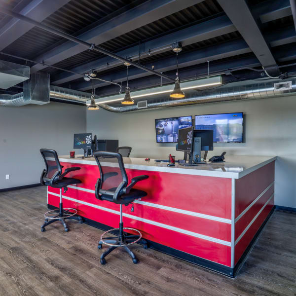 Interior of the leasing office at StorQuest Self Storage in Aurora, Colorado