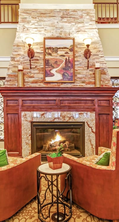 Fireplace at The Commons on Thornton in Stockton, California