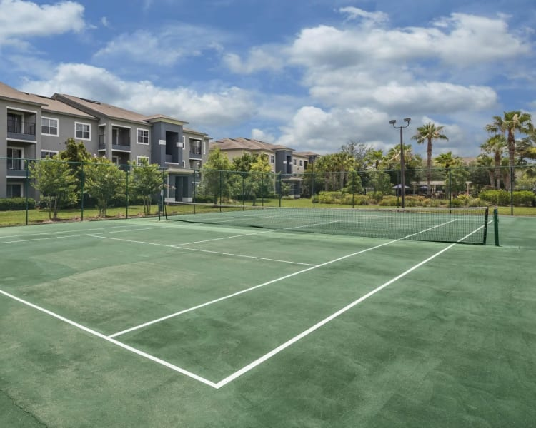 Onsite tennis courts at Mezza in Jacksonville, Florida