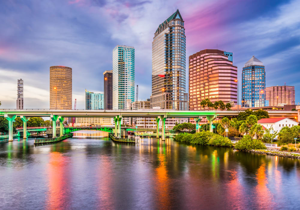 Beautiful afternoon view of city near Amira at Westly in Tampa, Florida