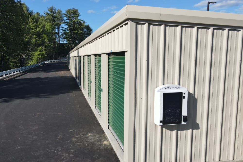 A storage unit wall at 603 Storage - Belmont in Belmont, New Hampshire