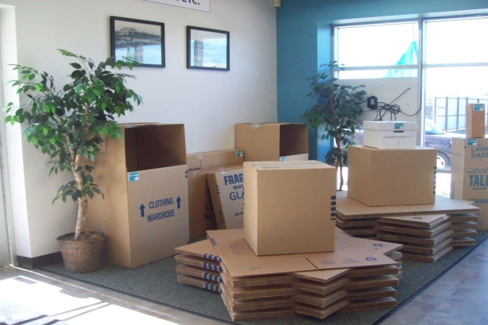 Boxes at Storage Etc... Hancock St