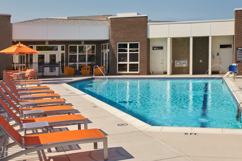 Outdoor pool at Five Points in Auburn Hills, Michigan