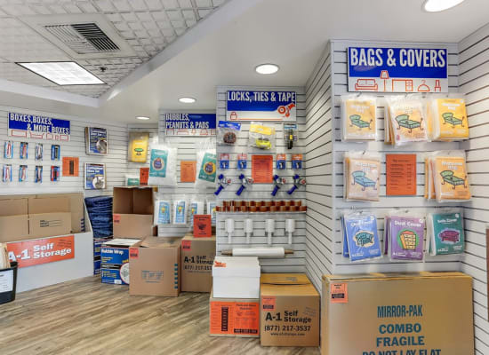 Packing and moving supplies available at A-1 Self Storage in La Habra, California