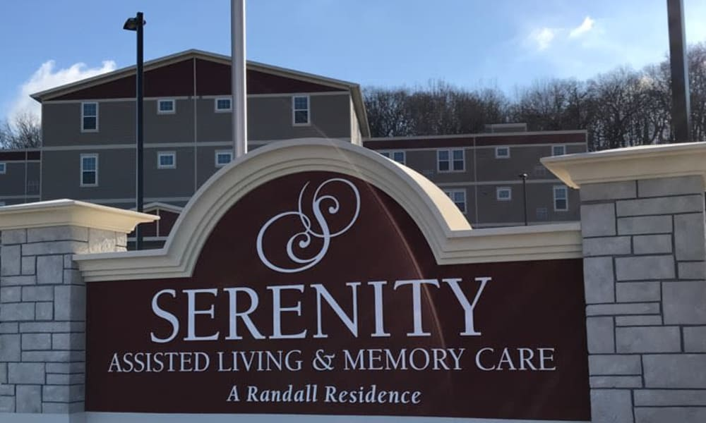 Signage outside of Serenity in East Peoria, Illinois