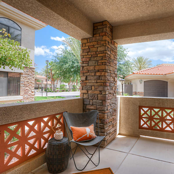 Personal patio with a view at San Palacio in Chandler, Arizona