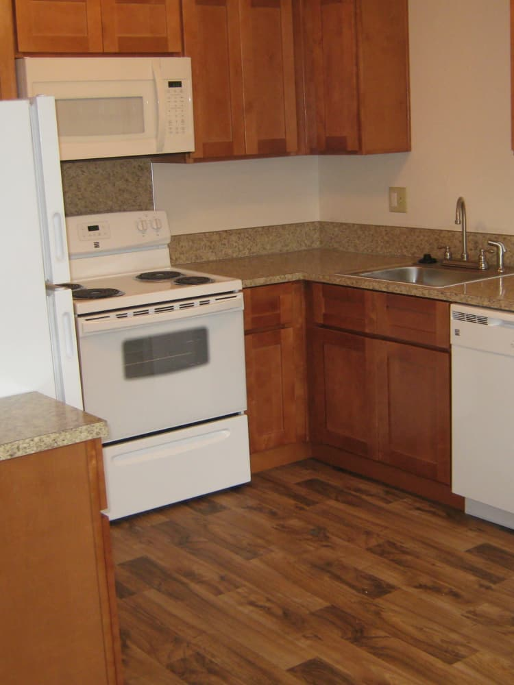 Well Equipped Kitchen at Fountain Court in Springfield, OR