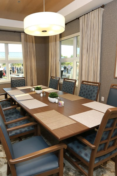 Private dining room at Quail Park at Morrison Ranch in Gilbert, Arizona