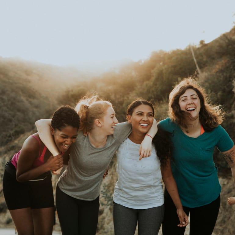 Friends hiking in Virginia Beach, Virginia near Maple Bay Townhomes