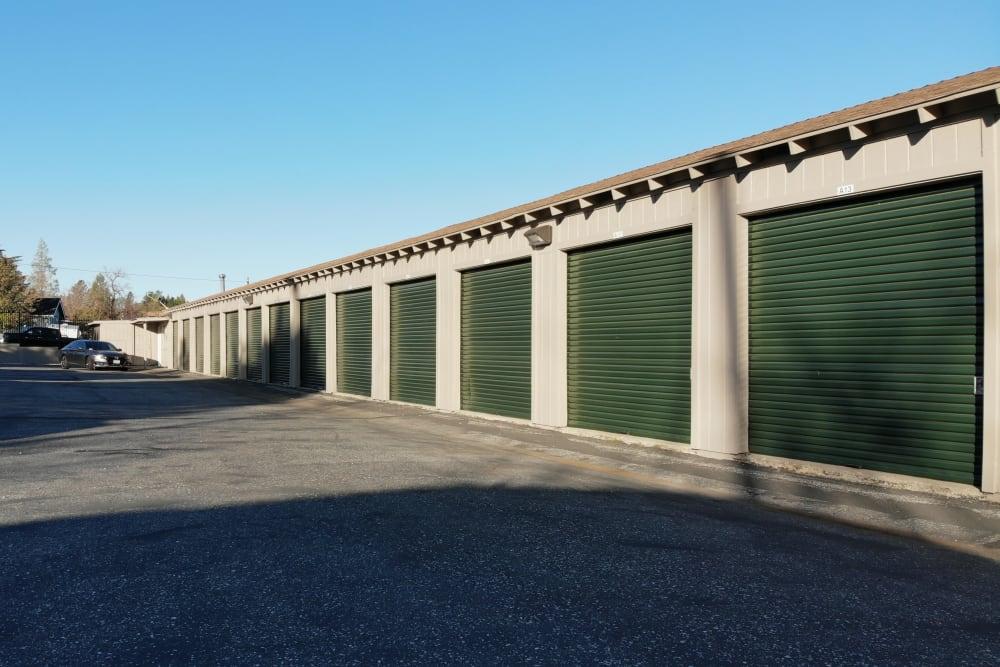 Outdoor storage units at Superior Self Storage in Grass Valley, California