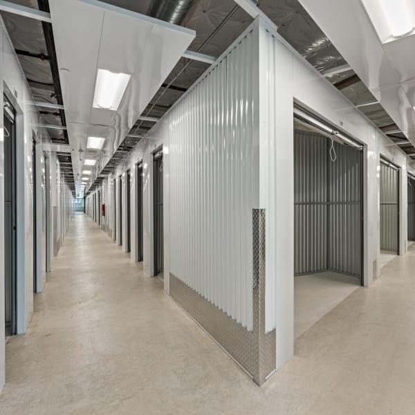 Indoor units with open doors at StorQuest Self Storage in Littleton, Colorado