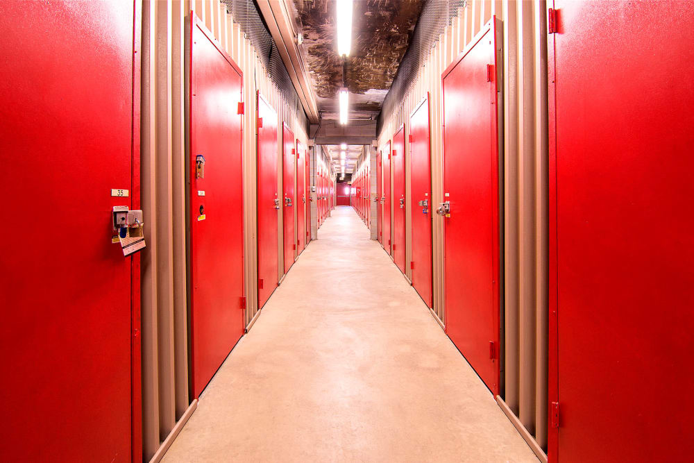 Indoor storage units at Prime Storage in Lindenwold, New Jersey