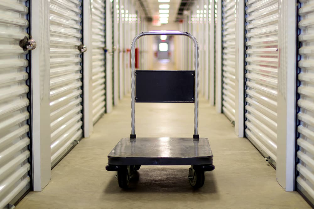Hand cart at A Space Place Self Storage in Medford, New York
