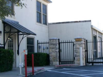 Gated security entrance at Huebner Mini-Stor in San Antonio, Texas