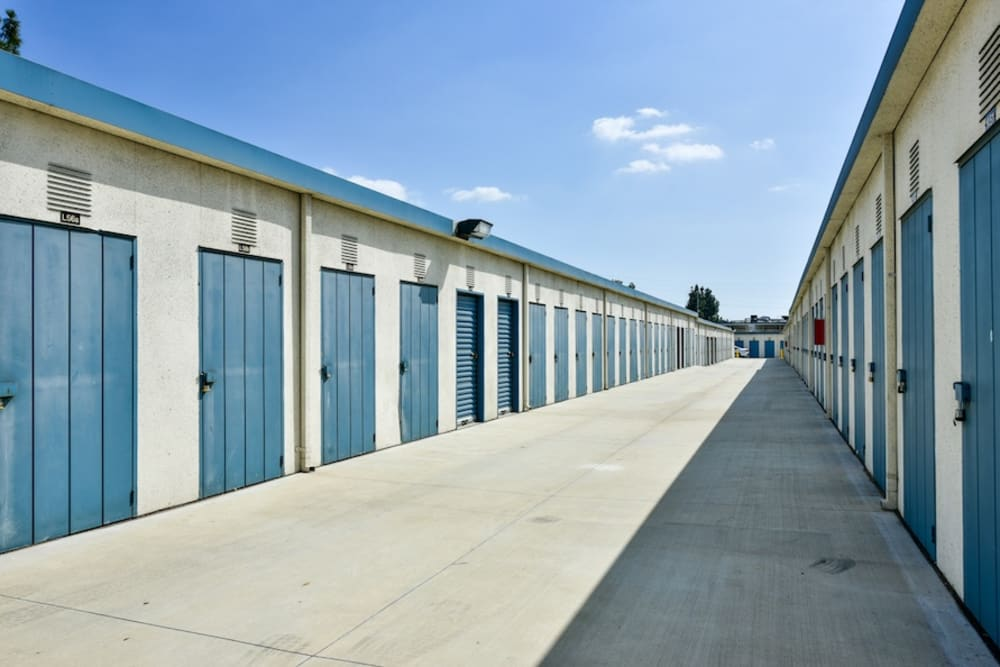 Small storage units at our facility on Roscoe Boulevard in North Hills