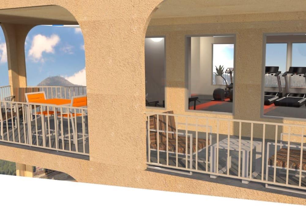 Fitness center exterior at Elevation Apartments, Tucson, Arizona