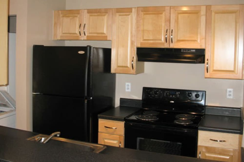 Modern kitchen at apartments in Easton, Maryland