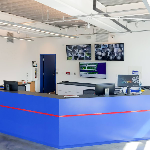 Interior of the leasing office at StorQuest Self Storage in North Miami Beach, Florida
