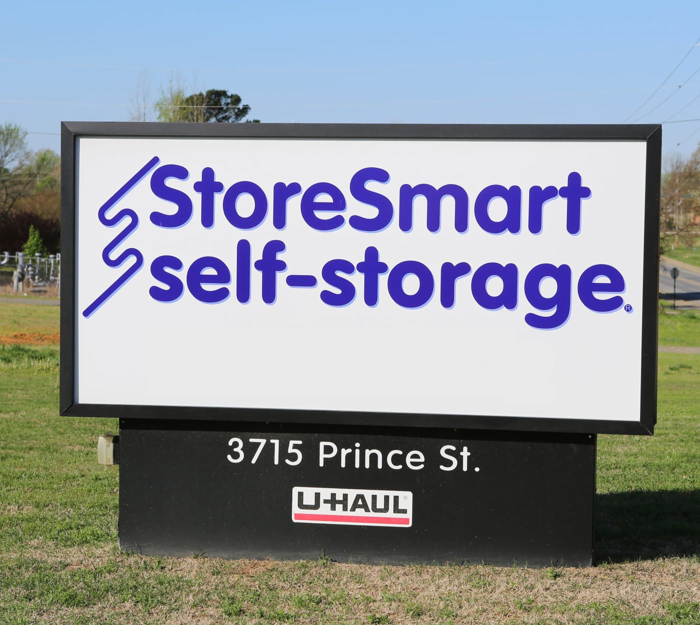 Entrance sign at StoreSmart Self-Storage in Conway, Arkansas