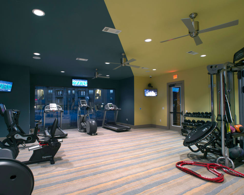 Fitness room at Savannah Oaks in San Antonio, Texas.