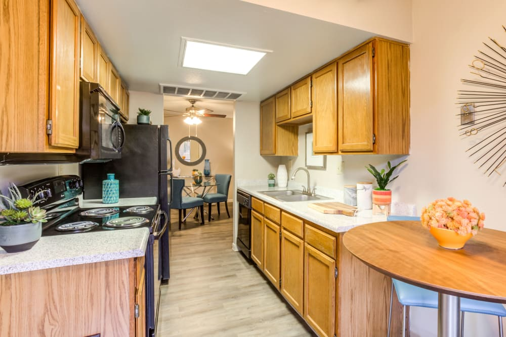Our beautiful apartments in Phoenix, Arizona showcase a kitchen
