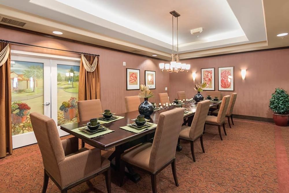 Private dining room at Merrill Gardens at Green Valley Ranch in Henderson, Nevada.