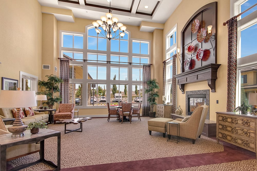 Beautiful living room at our senior living community