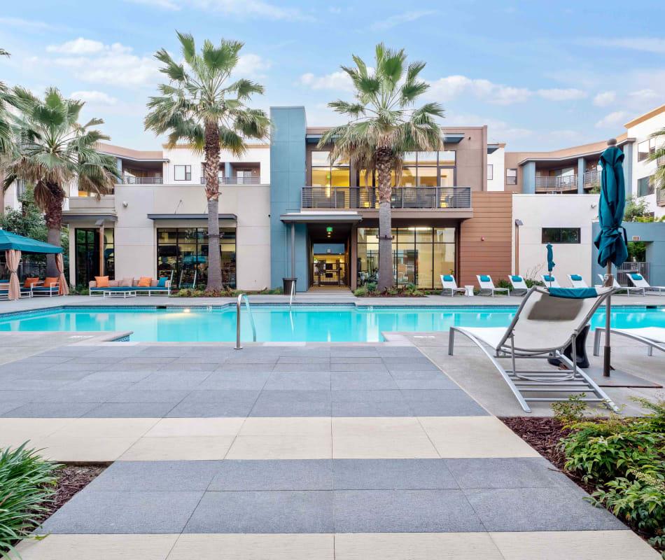 Swimming pool at Sofi Riverview Park in San Jose, California