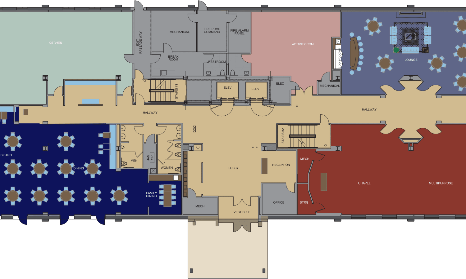 View our Club Level floor plan