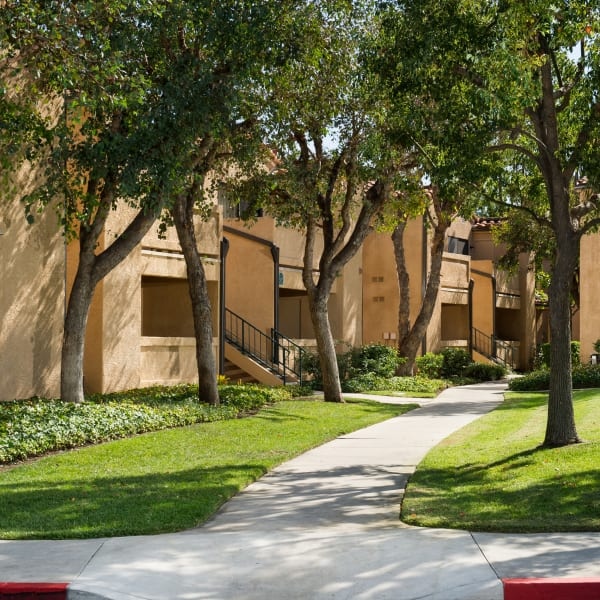 Enjoy apartments with walking paths at The Villas at Rowland Heights