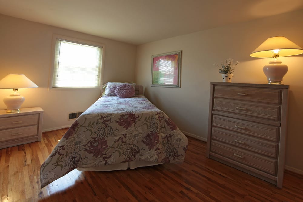 Cute bedroom at Foxridge Townhomes in Essex, Maryland