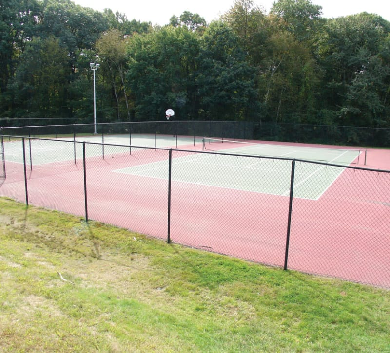 Outdoor tennis courts at Meadows at Marlborough in Marlborough, Massachusetts