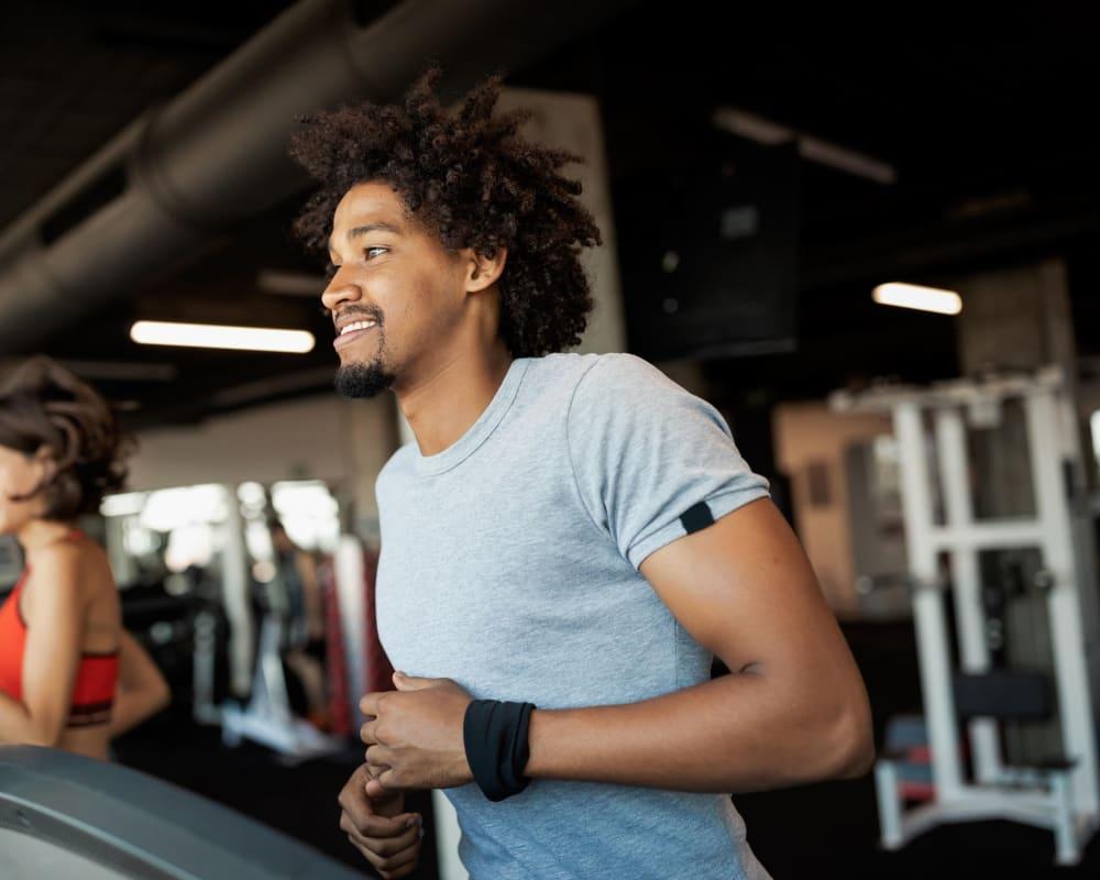 Residents running on the treadmills at Wellington Point in Atlanta, Georgia