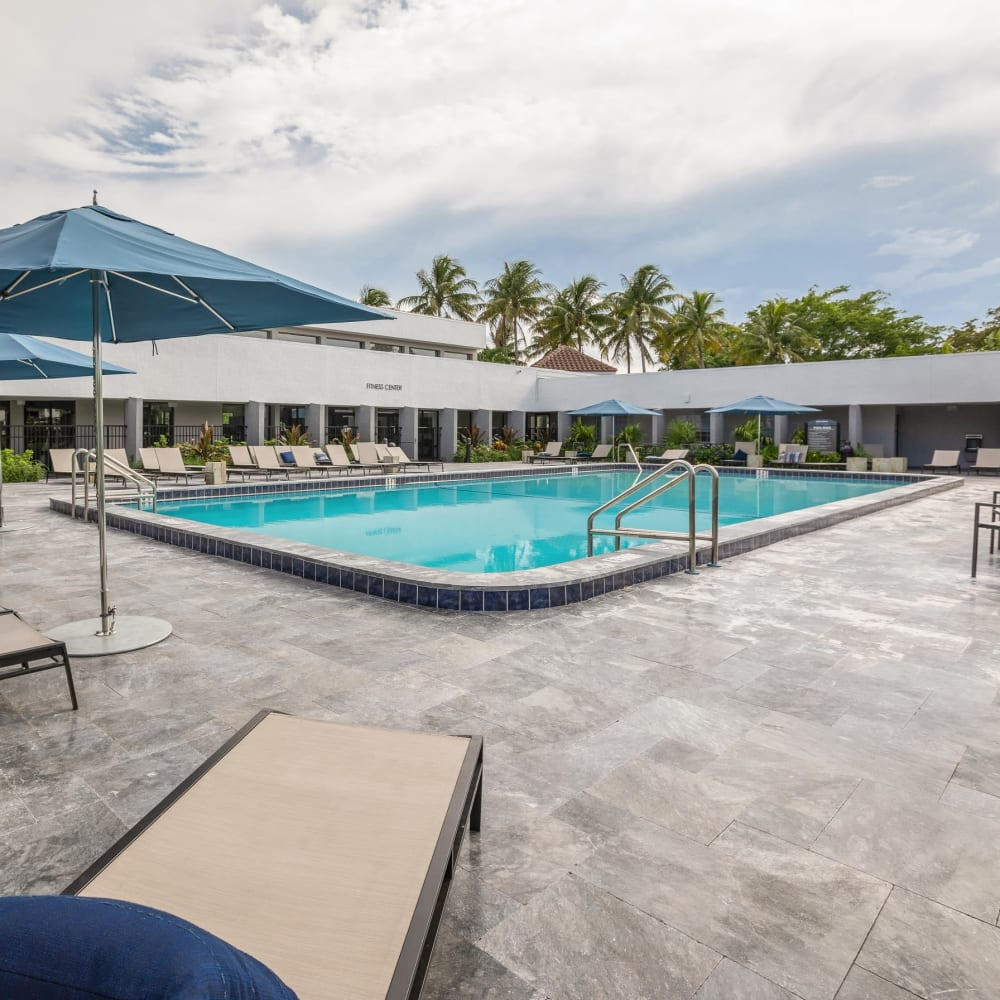 Large clubhouse with plenty of seating at Cielo Boca in Boca Raton, Florida